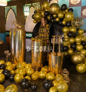 Beautiful event by golden and black imported balloons